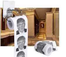 DONALD Trump UMORISMO carta igienica rotolo Novità Divertente Regalo discarica con Trump Divertente