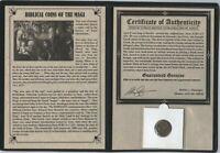 Ancient Biblical Coin of the Magi Bronze Tetradrachm  Azes II 35BC-5AD Album COA