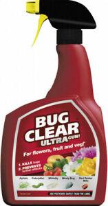 Bug Clear Ultra Gun 1 Litre Spray Pest Killer for Flowers Fruits Veg