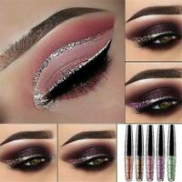 6 Color Waterproof Shimmer Eyeshadow Glitter Liquid Eyeliner Metallic Cosmetics