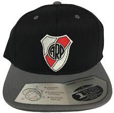 River Plate Soccer Hat DARK GREY FLEXFIT TECH 110 SNAP BACK FLAT BUIL