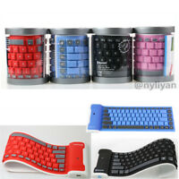 Waterproof Foldable Soft Silicone Keyboard Bluetooth For Pad iPhone Smart Phone
