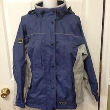 Wetskins Waterproof Jacket Blue Grey Hood Size Medium