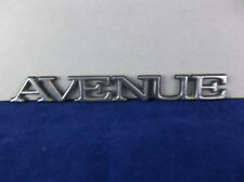 "1991-2005 Buick Park ""Avenue"" Chrome Plastic Rear Fender Emblem"