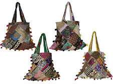 25 Cotton Ethnic Embroidered Patchwork Rajasthani Style Tote Wholesale Lot Bags