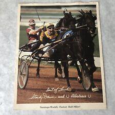 Stanley Dancer Print 8 x 10 Albatross Saratoga Raceway Harness Horse Racing