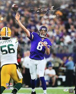 "Sam Bradford signed 16x20 ""Go Vikings"" autographed NFL photo PSA/DNA (AC57113)"