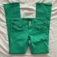 Womens Lilly Pulitzer Green Worth Straight Jeans Size Size 4