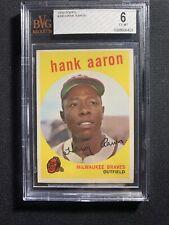 1959 Topps Hank Aaron #380 Bvg 6 HOF Psa Regraded?
