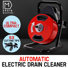 250W Electric Drain Cleaner Plumbing Auger Eel Pipe Sewerage 4x Cutting cutter