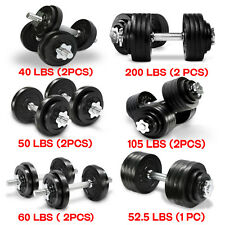 YES4ALL DUMBBELL SET 40 TO 200 LBS ADJUSTABLE WEIGHT CAST IRON DUMBBELLS FITNESS