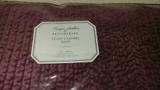 Pottery Barn Monique Lhuillier Velvet Channel Quilt Full/Queen New $249 Eggplant