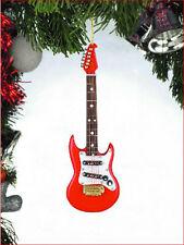 "ELECTRIC GUITAR RED 4"" MUSICAL INSTRUMENT CHRISTMAS ORNAMENT"