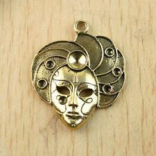 3pc dark gold-tone Sinkiang people charm pendant h1298