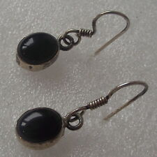 BOUCLES D'OREILLE ARGENT  925 ,ONYX  SILVER EAR RINGS