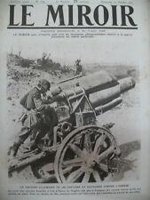 WW1 CANON OBUSIER DE 280 ALLEMANDS BATAILLE YPRES  LE MIROIR 1917