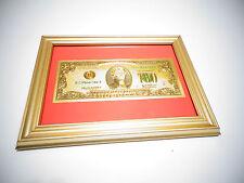 24 KARAT 99.9% GOLD USA 2  DOLLAR BILL-FRAMED-GREEN SEAL-LIMITED PRODUCTION,RARE