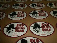 Old Guys Rule John Wayne Talk Low Talk Slow and Don T Talk Too Much Sticker