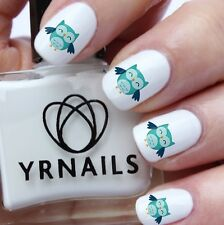 Nail WRAPS Nail Art Water Transfers Decals - Happy Owl - S792