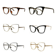 VTG 50s/60s Style Clear Lens Cat Eye Office Retro Rockabilly Premium Glasses