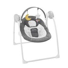 Elektrische Babywippe und Babyschaukel, mit 3 Schaukelgeschwindigkeiten, Timer