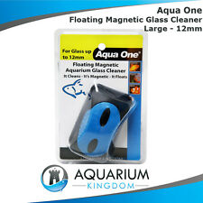 Aqua One Large 12mm Floating Magnetic Glass Cleaner - Aquarium Algae Tank Magnet