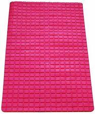 Nuevo Alfombra De Ducha Baño De Pvc Antideslizante Colores Brillantes grandes forma de rectángulo rosa caliente