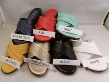 DAMIANI'S Italian Shoemakers KENNY Women's Wedge Slide Sandals with MEMORY FOAM