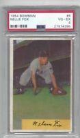 1954 Bowman baseball card #6 Nelson Nellie Fox, Chicago White Sox graded PSA 4
