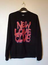 NEW LOVE CLUB Drippy Logo Felpa Felpa Taglia Small Nuova RRP £ 40 Nero