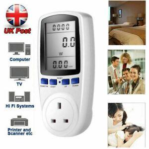 Electricity Power Consumption Meter Energy Monitor Watt Kwh Analyzer UK Plug in