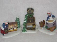 Three French Hens Dept 56 Twelve Days Of Dickens Village #3 Set Of 3 56.58378