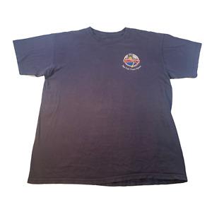 Bubba Gump Shrimp Co Shirt Large Navy Blue Men's U175