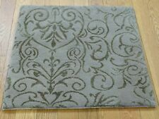 2'X3' Hand Knotted Wool and Silk Damask Design Oriental Rug G36244