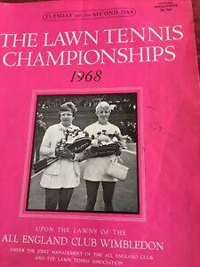 wimbledon tennis programmes 1968 Day2