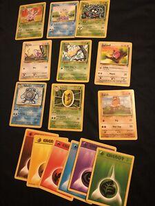 44 Pokemon Cards 1995-99 WOTC Base 2 Bundle Job Lot Near Mint Condition 44 Cards