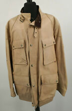 BELSTAFF PANTHER Cream Leather Jacket Size XL UK Large Chest Very Rare