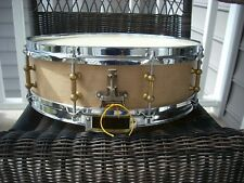1910's or 20's Leedy 4x14 solid maple snare drum with tube lugs