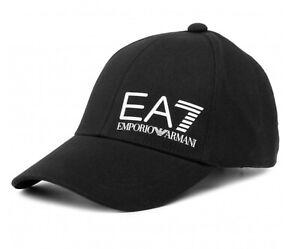 Cappello baseball cap unisex EA7 Emporio Armani cappellino nero con logo C22EA01