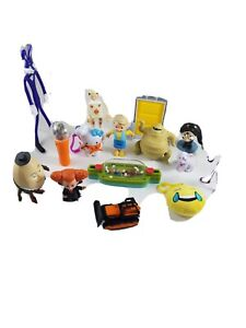 15 Lot Figurines Toy People Bulldozer McDonalds Hardees Hello Kitty Humpty Game
