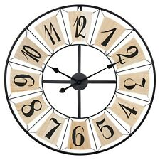 70cm Wooden Panels Metal Giant Industrial Wall Modern Large Numbers Retro Clock