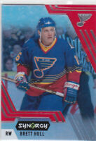 20/21 SYNERGY..BRETT HULL..RED ACETATE..BOUNTY..UNSCRATCHED..# 72..BLUES