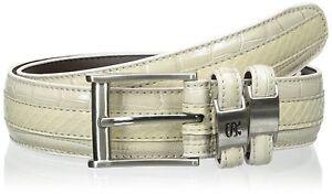"Stacy Adams Mens Genuine Leather Snakeskin W/ Crocodile Lizard Texture Belt 40"""