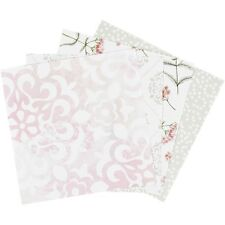 40 Double Sided Origami Paper 4 Designs Floral Spot Ornate 10 x 10cm Card Making