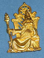 Vintage JJ Gold Tone Wizard Brooch / Pin