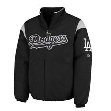 MLB Los Angeles Dodgers Majestic Men's Premier Jacket - Black/Gray