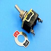 1 Set Waterproof Toggle Flick Switch 12V ON/OFF Car Dash Light Metal 12V SPST W