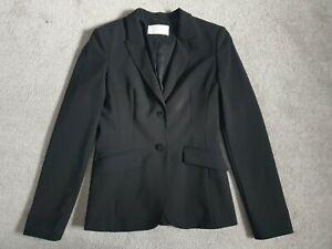 Hugo Boss Ladies Black Julea Wool Blazer Tailored Jacket - Size 6