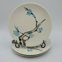 Set of 3 Red Wing Pottery Driftwood Bread & Butter Plates 6 5/8' Blue Flowers