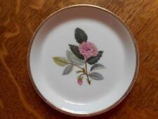 "Wedgwood Hathaway Rose bone china 4"" coaster AS IS"